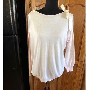 Lauren Conrad Satin Bow Shoulder Sweater Large